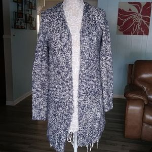 A pea in a pod gray chunky long cardigan